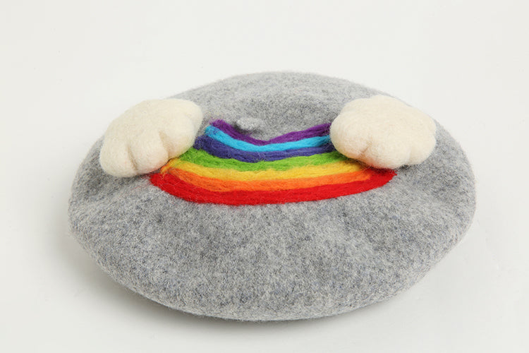 Childlike Rainbow Cloud Beret YV42412