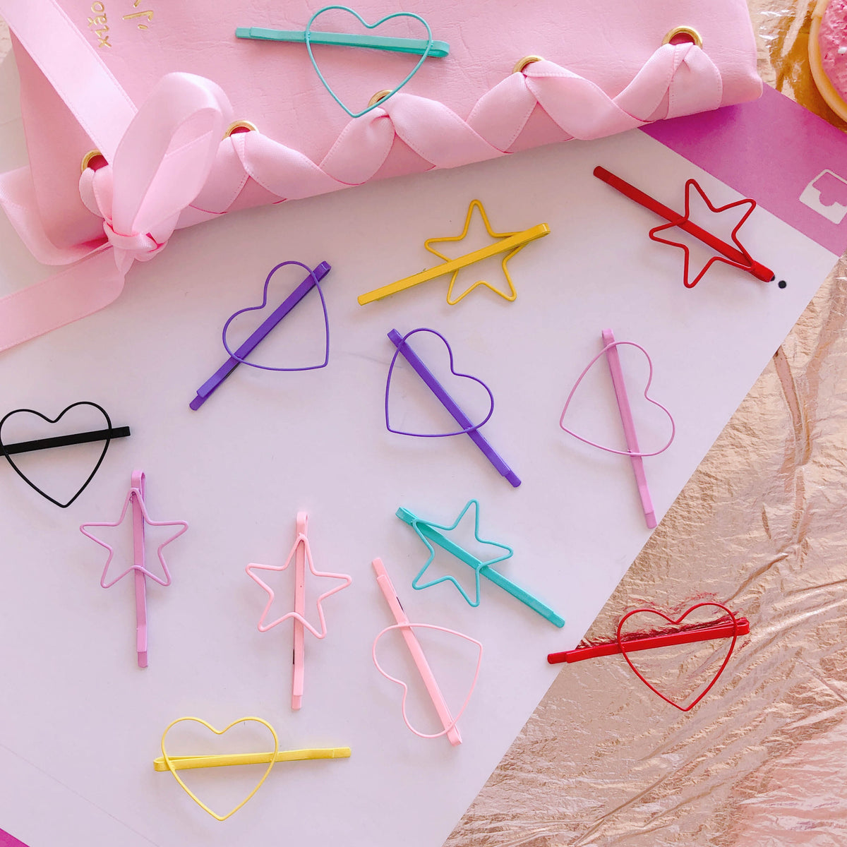 Love five-pointed star hairpin YV41120