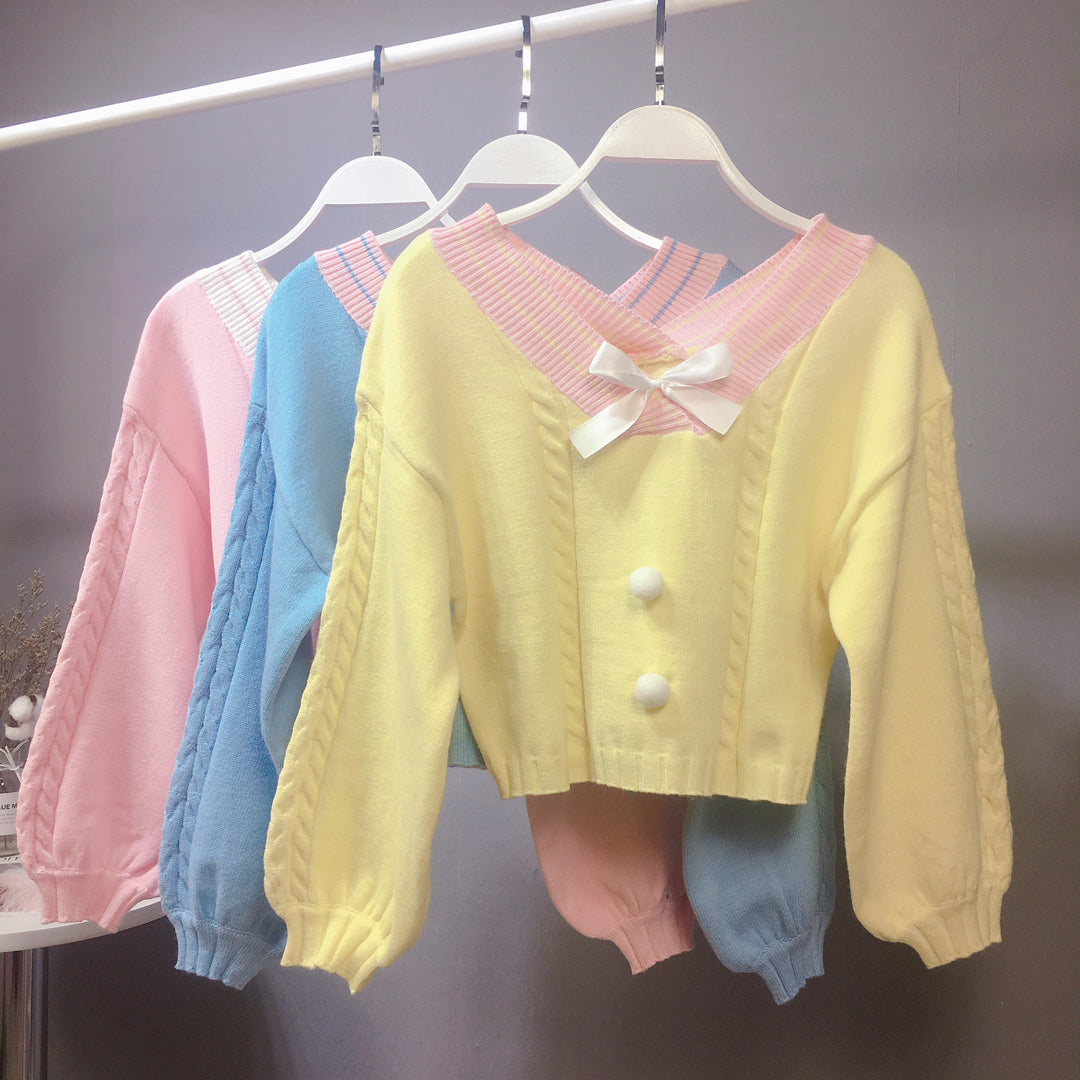 Cute bow sweater YV40985