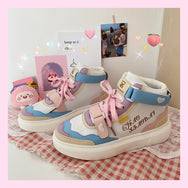 Rainbow high-top shoes YV30001