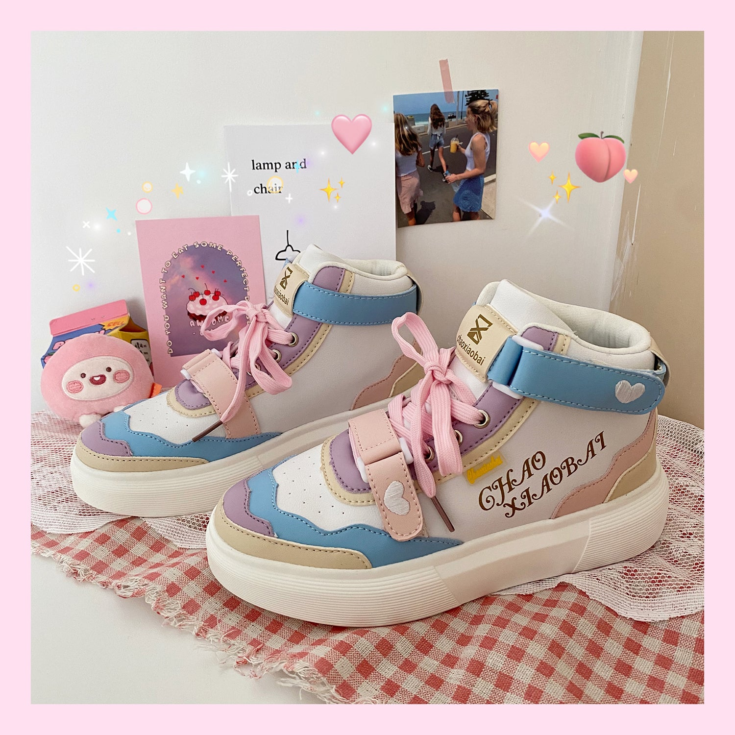 Rainbow high-top shoes YV30001 | Youvimi