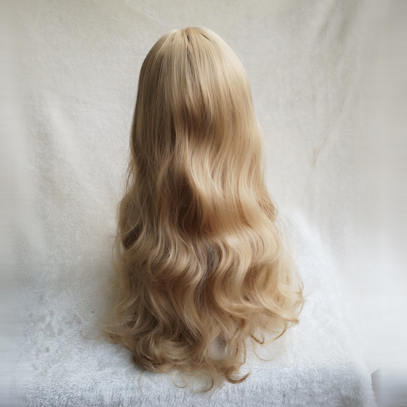 Golden lolita long roll wig yv42601