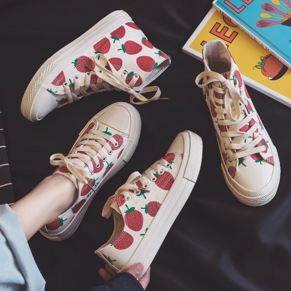 Strawberry canvas shoes YV41135