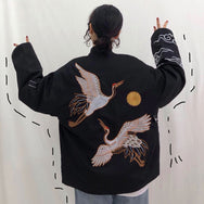 Crane embroidery jacket YV41121