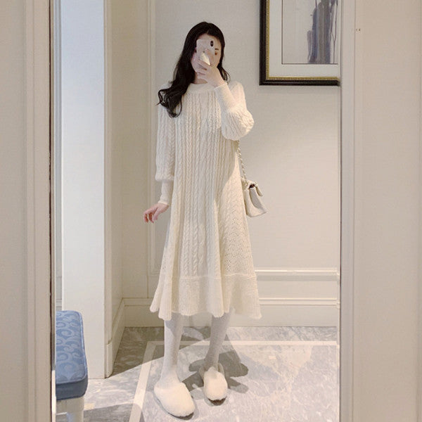Knitted sweater dress yv42657