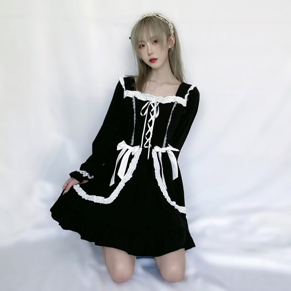 Lolita Bow Black + White Dress YV43492