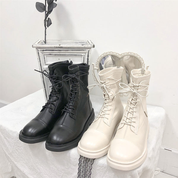 All-match strappy short boots YV43467