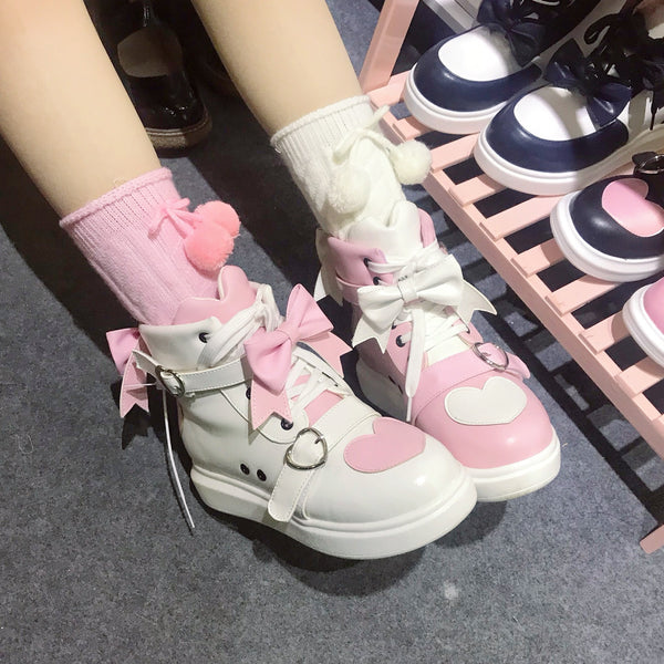 lolita bow love shoes yv42865