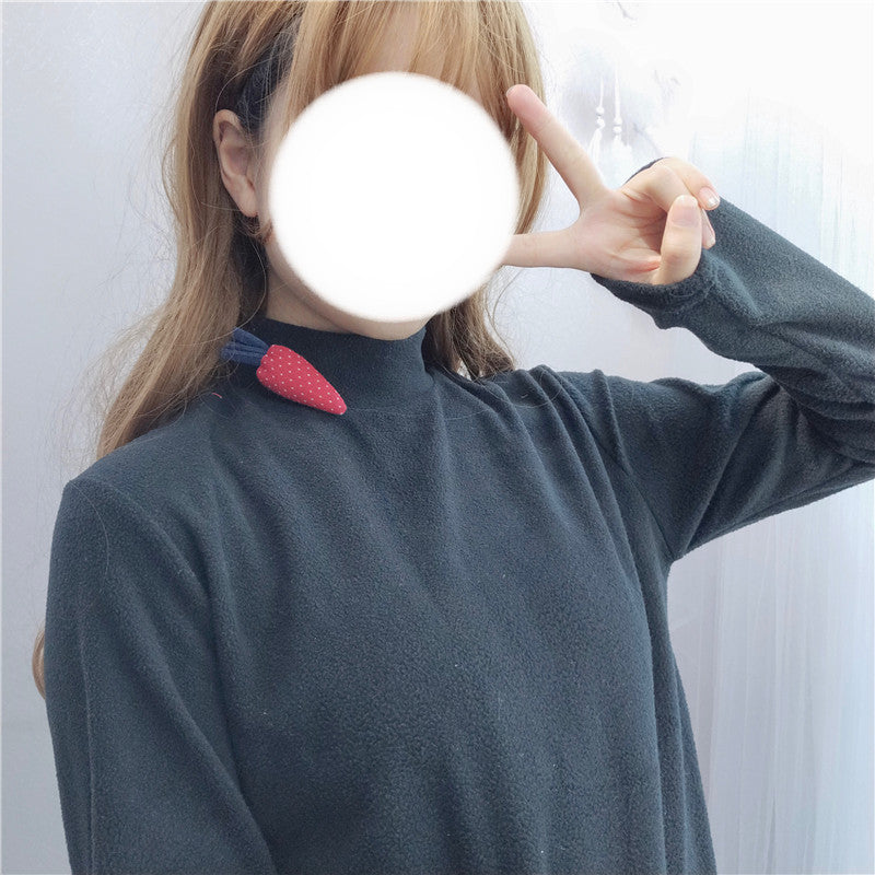 Cute carrot velvet sweater YV40925