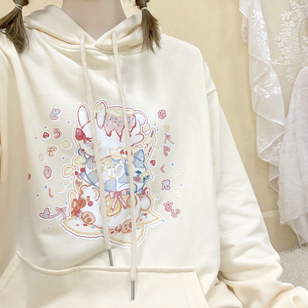 Cute rabbit print sweater yv42915