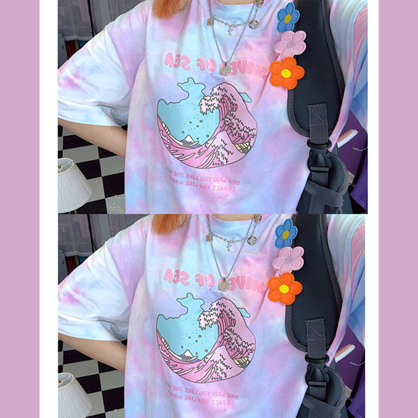 Waves of sea gradient t-shirt yv42250