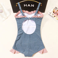 Cute bow one-piece swimsuit yv42099