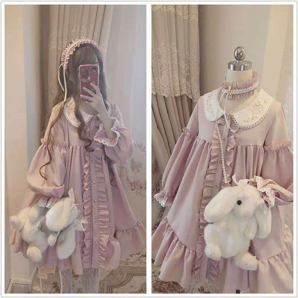 Japanese lolita pink dress yv42270