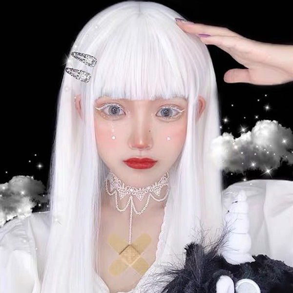 Harajuku white long wig YV43645