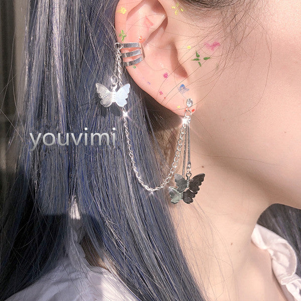 Butterfly ear bone clip earrings yv42058
