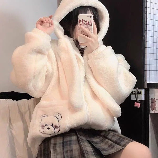 Cute bear plush jacket YV43687