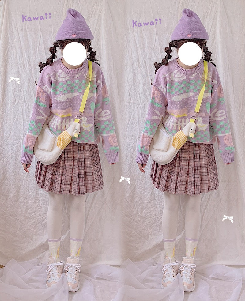 Japanese cute duckling knit sweater YV42572