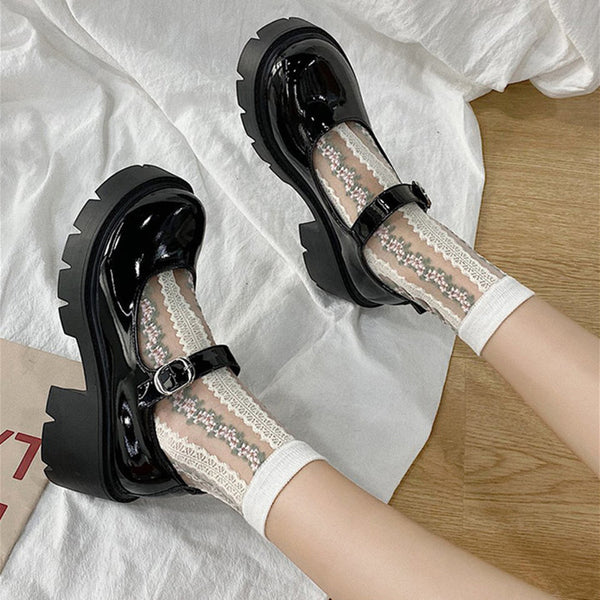 Lolita JK uniform platform shoes YV43682