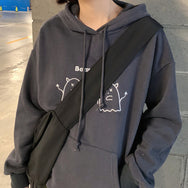 Cute little devil embroidered hoodie YV43535
