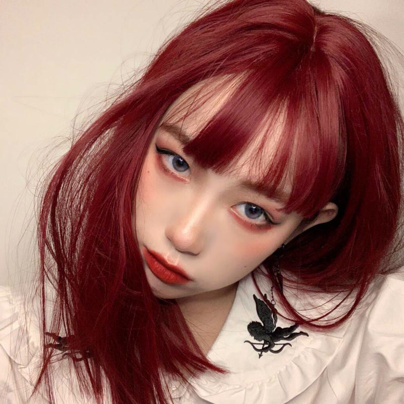 lolita wine red wig yv42750