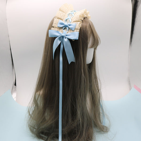 Japanese Lolita lace bow headband yv42170