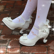 Japanese lolita bow high heels yv42179