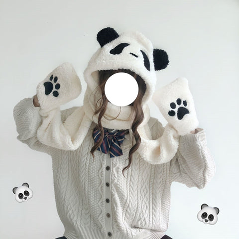 Cute bear ear hat scarf YV43568