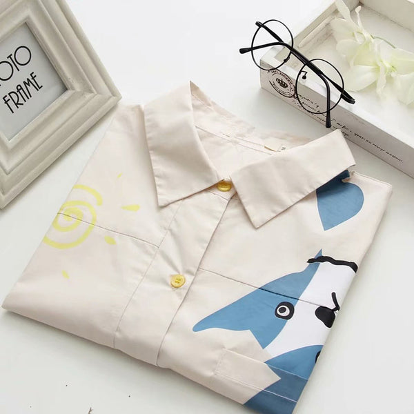 Cute cartoon dog shirt yv42211