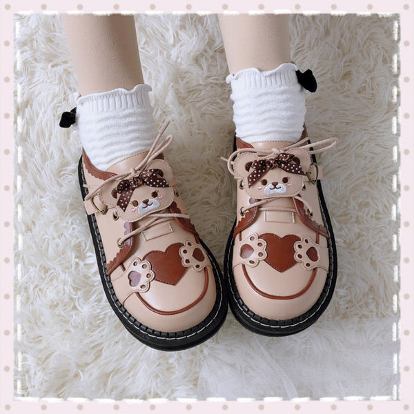 Lolita cute bear color matching shoes YV43442