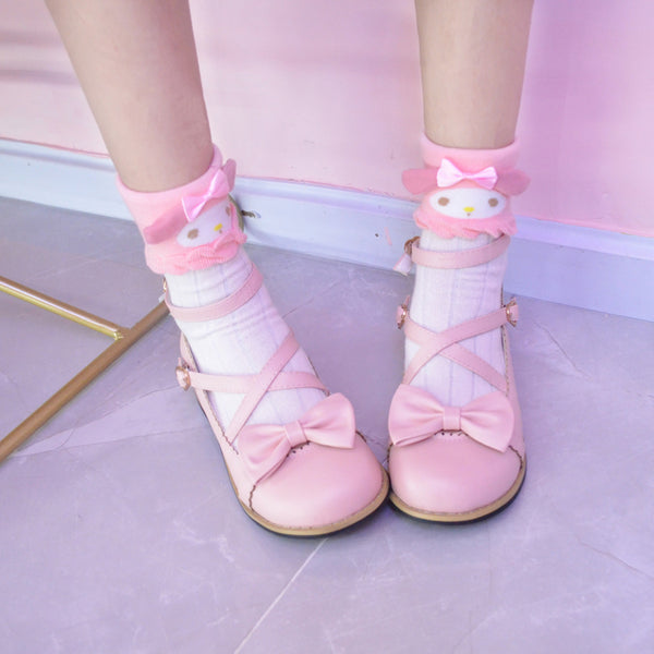 Japanese cute bow cartoon socks yv42567