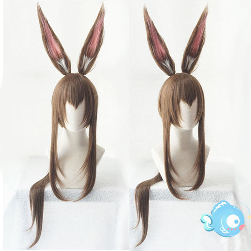 Amiya cosplay linen brown wig YV43455