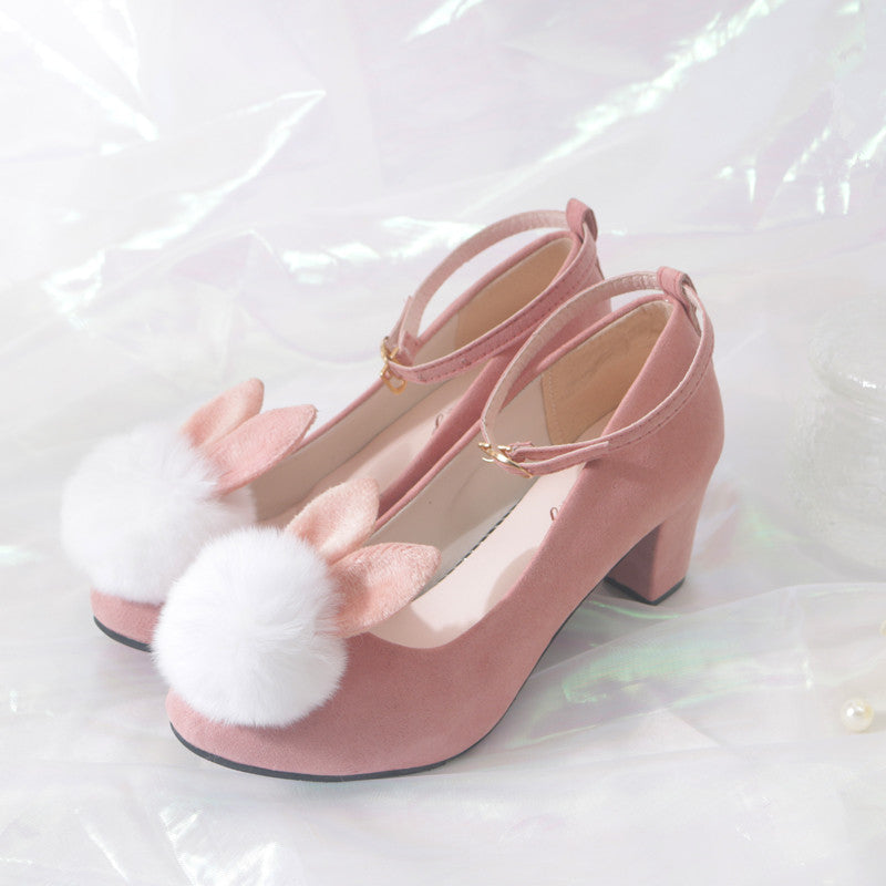Jfashion lolita rabbit high heelsYV43865