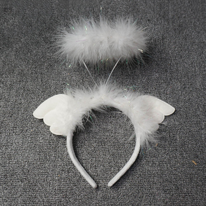White angel wings headband headwear YV43512