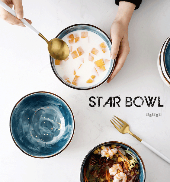Beautiful starry ceramic bowl YV90074