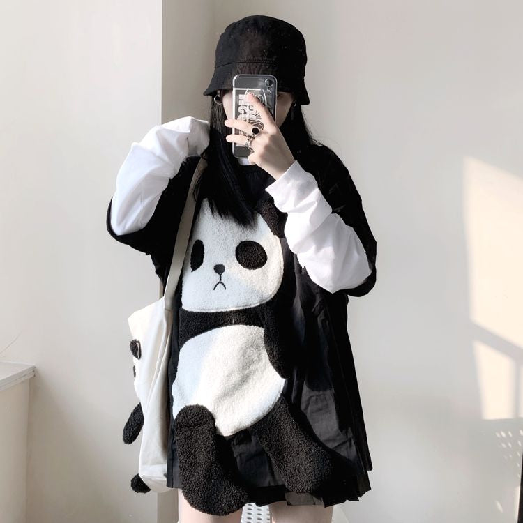 Cute and funny panda top yv42629