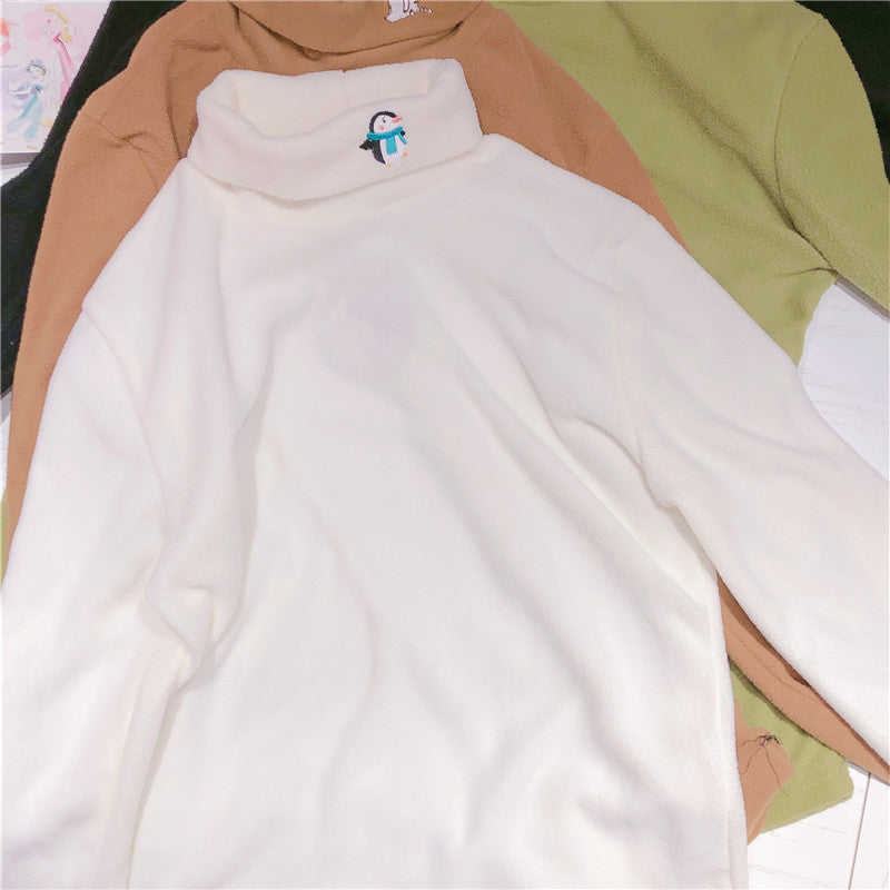 Cute cartoon embroidery top yv42607