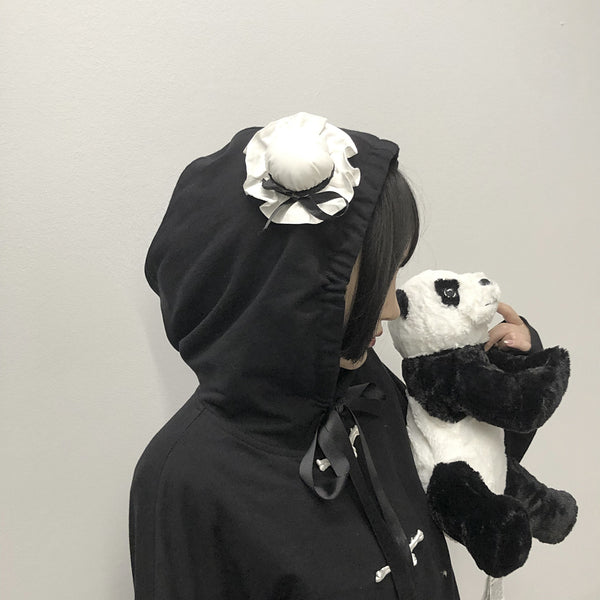 Youvimi panda hat loose sweater YV42387