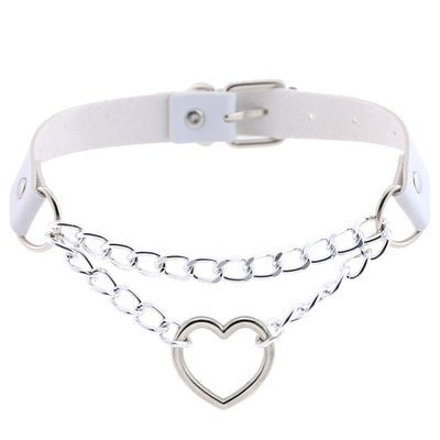 Punk love chain necklace yv42578