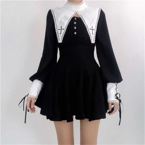 Dark nun cosplay dress YV43480