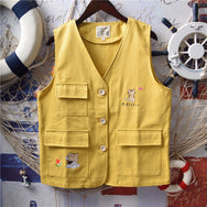 Cute cat flower vest yv42892