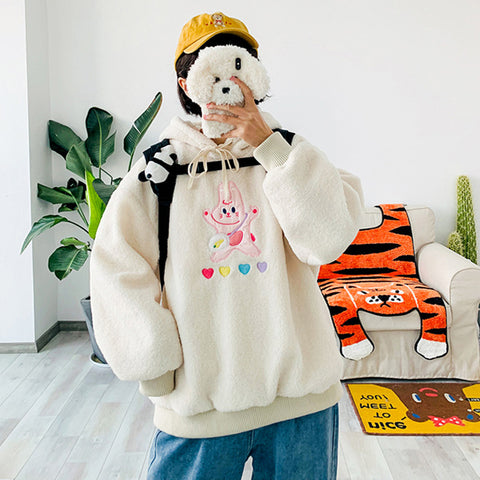 Cartoon Bunny Embroidered Sweatshirt YV43537