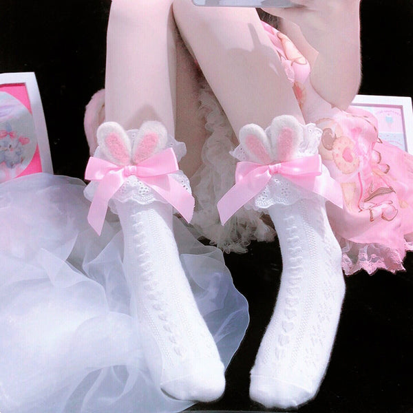 Cute Bowknot Rabbit Ear Socks YV43437
