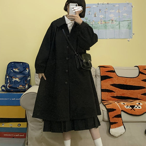 Black long coat YV43538