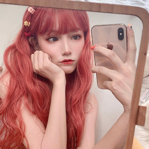 Lolita Orange Long Curly Wig YV43559