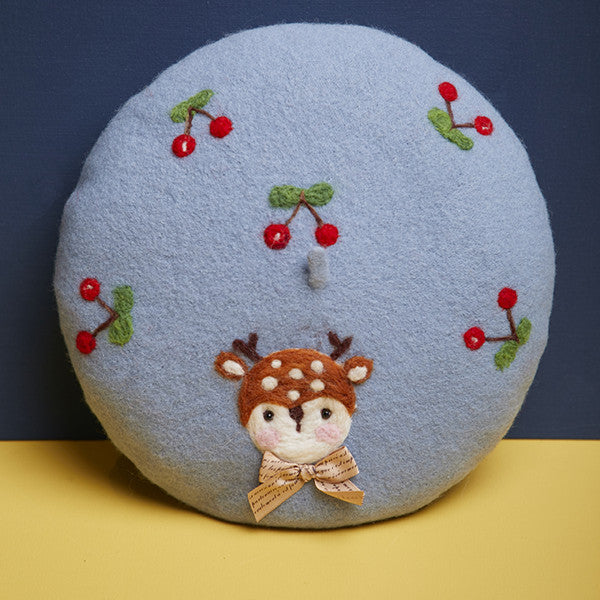 Cute cherry deer beret yv42594