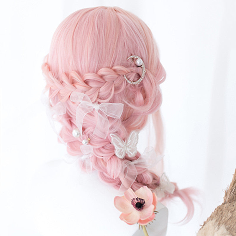Lolita cherry pink long curly wig YV43582
