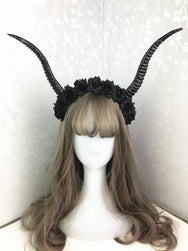 Halloween Dark Witch Devil Horn Cos Headband YV42389