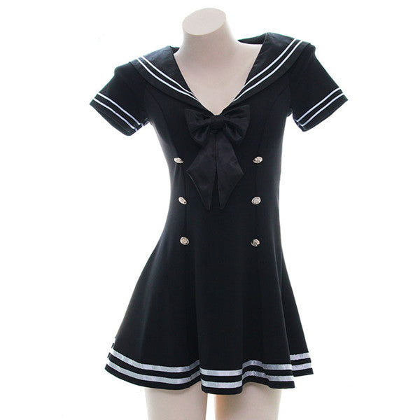 Japanese bow maid uniform dress yv42617