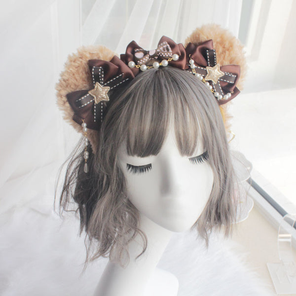 Lolita bow bear ears headband yv42633