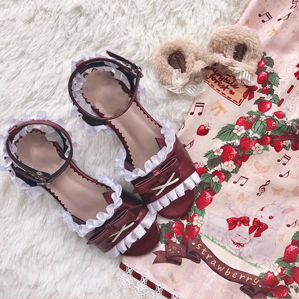 Lolita bow lace sandals yv42093